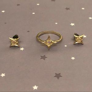 Authentic Kendra Scott Earring & Ring Set
